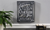 Gift Craft Your Children Wall Sign Chalkboard