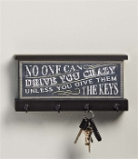 Gift Craft No One Can Drive You Crazy Chalkboard Wall Key Holder