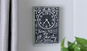 Chalk Talk Collection Vintage Typography Wall Clock