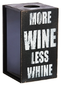 More Wine Less Whine Whimsical Cork Holder