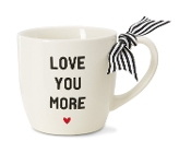 Pavilion Gift Company, Love You More Stoneware Mug, 12-Ounce Cap