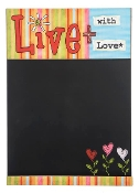 Happy Thoughts- Live with Love Chalkboard