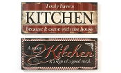 Giftcraft Country Kitchen Wall Sign,
