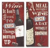 Wine Bottle Decorative Wall Plaques