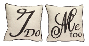"Melrose 14"" Wedding Pillow Set - I Do / Me Too"