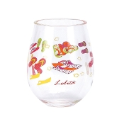 Lolita Stemless Acrylic Wine Drinkware, Flip Flop, Set of 2