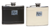 True Love Stainless Steel Wedding Flask Duo