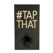 Tap That Barstool Philosopher Wall Plank Bottle Opener