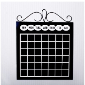 Adams and Co. Wood and Metal Chalkboard Calendar
