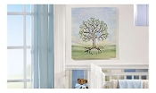 The Signing Tree Canvas Wall Decor w/ Felt Tip Pen, Baby Boy