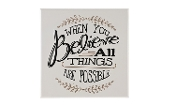 Giftcraft Note to Self Wall Plaque, Believe