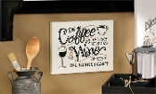 Giftcraft Note to Self Wall Plaque, Give Me Coffee