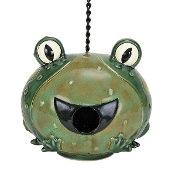 Nature's Garden Frog Bird House