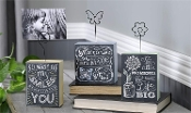 Giftcraft Tabletop Photo Cubes, 3 asst.