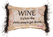 Sanctuary Wine Bottles Decorative Throw Pillow