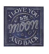 Gift Craft I Love You to The Moon Wall Plaque Chalkboard