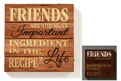 Giftcraft Lighted Novelty Plaque, Friends Are The Most Important