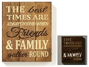 Giftrcraft LED Lighted Wall Sign, The Best Times Family