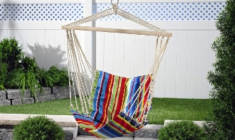 Giftcraft Hanging Fabric Swing Chair
