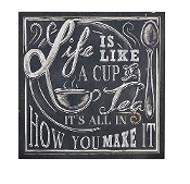 Giftcraft Life Is Like a Cup of Tea Wall Sign Chalkboard