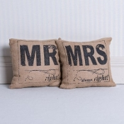 Mr. Right and Mrs. Always Right Throw Pillows …