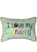 "Manual Word Throw Pillow, 12.5 x 8.5"", I Love My Granddogs"