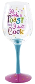 Ganz Color Pop Wine Glass - I'd Make A Toast But I Don't Cook
