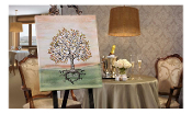 The Signing Tree Canvas Wall Decor w/ Felt Tip Pen, Anniversary