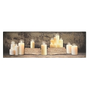 LED Lighted Canvas Wall Print, Candles