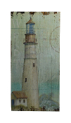 Wooden Lighthouse Wall Plaques, Set  of 2