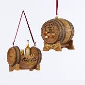 Whiskey Barrel Christmas Ornaments