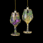 Nobel Gems Wine Glass with Glitter Ornaments