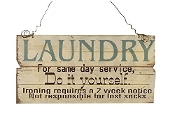 Giftcraft, Do It Yourself Laundry Wall Sign