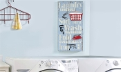 Giftcraft Mixed Media Laundry Room Wall Plaque, Laundry Schedule