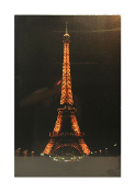 Northlight Seasonal LED Lighted Eiffel Tower Scene Canvas Wall P
