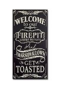 Welcome To Our Firepit Novelty Sign