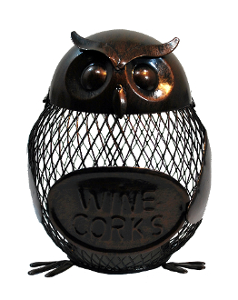 Metal Owl Wine Cork Holder