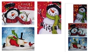 Stretched Canvas Lighted Snowman Wall Art