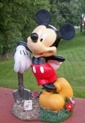 "Mickey Mouse w/ Shovel - Planting Seeds 11.5"" Garden Statue"