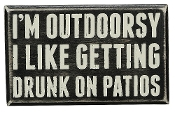 "Primitives By Kathy 6.5"" x 4"" Wood Wooden Box Sign Outdoorsy"