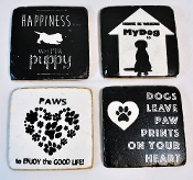 Dog Story Coaster, Set of 4