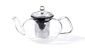 For Tea's Sake Teapot with Stainless Steel Infuser