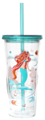C.R. Gibson Lolita Double Wall Acrylic Tumbler with Straw, 20 oz