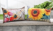 Decorative Outdoor Weather Resistant Pillows, 2 Designs