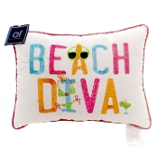 "12x16"" Embroidery Pillow, Beach Diva"