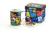 Romero Britto Bone China Mug with Lid - Deeply in Love
