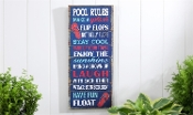 Giftcraft Pool Rules Novetly Sign