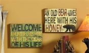A Hunters Cave Love Novelty Signs, Available in 2 Designs