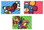 Romero Britto Vinyl Placemats, Choice of 3 different Designs