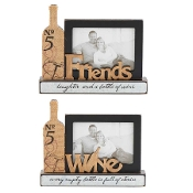 Wine Bottle Picture Frames, Choice of Two Designs